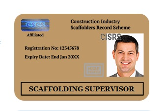 CISRS CARD - Scaffolding Workers
