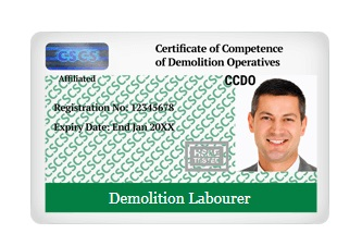 CCDO CARDS - Demolition Operatives